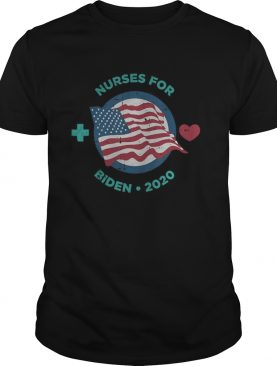 Nurses for joe biden heart american flag independence day shirt