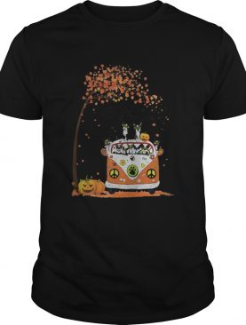 Peace bus chihuahua its the most wonderful time of the year leaves tree pumpkins shirt