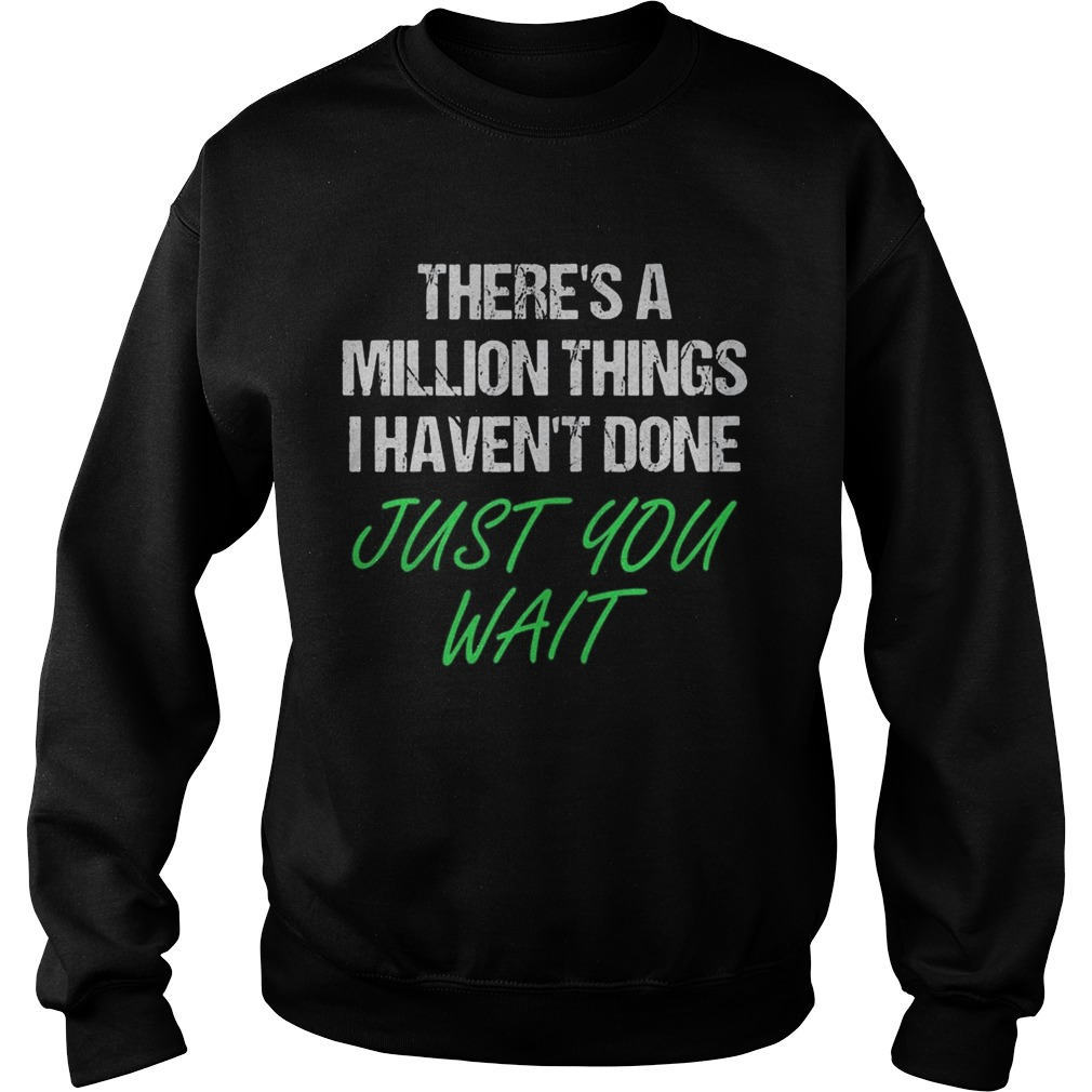 Theres a million things i havent done just you wait Sweatshirt