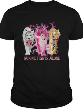 Tigers no one fights alone cancer awareness shirt