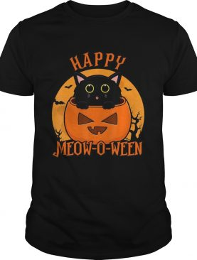 Happy Halloween Meowoween Black Cat shirt