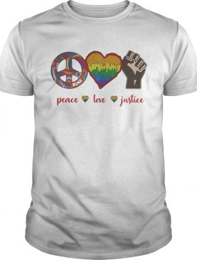 LGBT peace love justice pippie black lives matter shirt