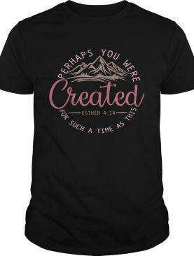 Perhaps You Were Created For Such A Time As This Esther 4 14 Pink shirt