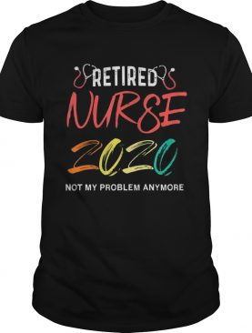 Vintage Retro Retired Nurse 2020 shirt