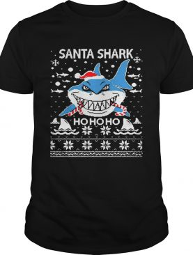 Santa Shark Ho Ho Ho Christmas shirt
