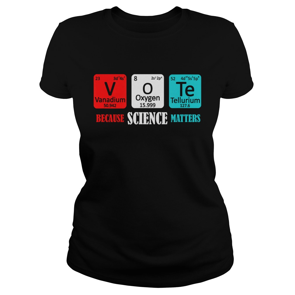 Vote Because Science Matters Classic Ladies
