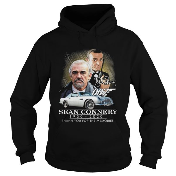 007 Sean Connery 19302020 thank you for the memories signatures  Hoodie