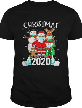 Christmas Santa Claus and Friends Wearing Mask 2020 shirt