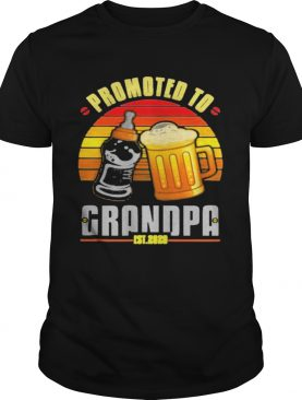 Promoted to grandpa Est 2020 Vintage Retro shirt