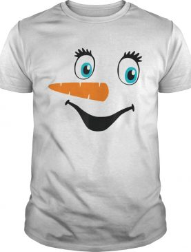 Snowman Face Carrot Nose Winter Christmas shirt