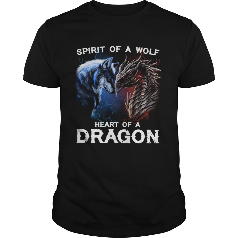 Spirit Of A Wolf Heart Of A Dragon Unisex