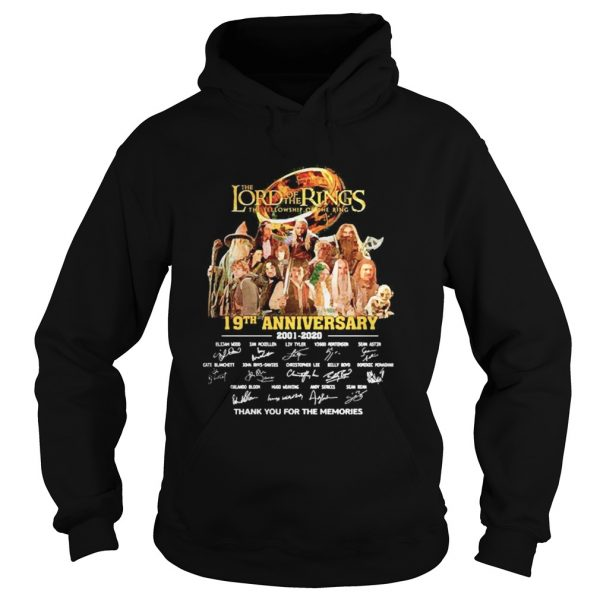 The Lord of the Rings 19th Anniversary 20012020 signature thank you for the memories  Hoodie