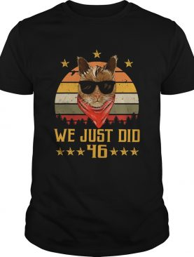 We just did 46 usa president elect vintage retro cat lover shirt